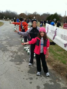 Elise and Lori Volunteers at Bold in the Cold Race